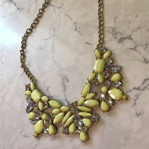 Adorable yellow statement necklace